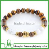 Bulk wholesale natural tiger eye bead bracelet discount price religious bead bracelets for men