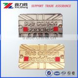 High quality Custom Design Embossed Hanging Metal Nameplates