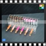 Wholesale custom design acrylic makeup storage box, clear acrylic cosmetic lipsticks display tube From China