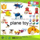 EN71 hot selling toy vehicle wooden plane toy OEM/ODM educational wooden plane toy for children