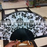 small plastic black print fan for advertising