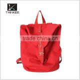 Fashion personalized Leather Trim Sports Rucksack Bag canvas backpack