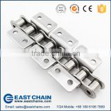 A series short pitch 12.7mm 304 stainless steel roller chain 40SS with WK2 Attachments                                                                                                         Supplier's Choice