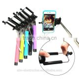 Handheld Monopod Telescopic Selfie Stick Tripod Cable Monopod With Holder for iPhone Android Phone