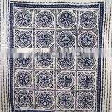 Blue Patchwork Kantha Quilt Applique Kantha Throw Cutwork Kantha Bed Cover Patchwork Ralli