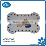 Bone shape dog food mat