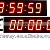 Led countup/countdown digital timer clock,outdoor sports digital timer clock,stopwatch timer,office clock,school clock