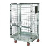 Cargo and storage equipment collapsible wire mesh roll pallet box