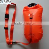 light and visible Swim Buoy Inflatable Drybag Float for Open Water Swimmers and Triathletes