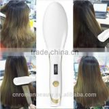 Hair Straightener Brush, Ceramic Heating Straightening Irons Brush Anti Scald, Static, Detangling and Silky Straight