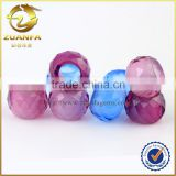 Zuanfa gems wholesale various color large hole gemstone beads ruby                                                                                                         Supplier's Choice