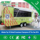 2015 HOT SALES BEST QUALITY food trailer with logo petrol food trailer electric food trailer