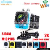 SJCAM M10+ Plus WIFI Mini Action Camera Sport DV Video 2K Helmet Camcorder Ultra HD Moto/Bike Riding Recorder DVR