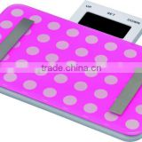 Future life mini body fat scale, mini electronic bathroom scale, push-pull LCD display box lovely scale