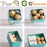 Chocolate metal tin packing box for couples lover gift / valentine's gift packing box