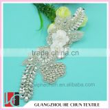 HC-2094 Garment Bling Rhinestone Applique for Bridal,China Fast Supplier Hot Fix Rhinestone, Free Samples Available