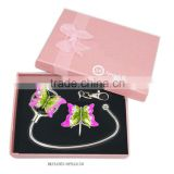 metal unique butterfly gift set with keychain and bag hanger, various designs,ISO certified factory