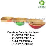 bamboo unique soup fruit larger lacquer coconut bowls