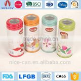 Wholesale Cheap Empty Round Tin Cans Fashion Personalized Girls Cute Thin Tall Tea Metal Tin                                                                         Quality Choice