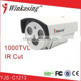 best price for 1000TVL waterproof/weatherproof high quality analog cctv bullet camera housing YJS-C1213