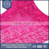 2016 factory wedding dress fushia guipure lace fabric cord top quality beautiful african clothing nigerian lace fabrics