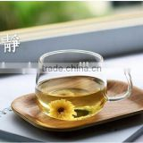 china hot sale! new product!300ml double wall pyrex glass drinking cup, elegant glass tea cup with infuser and handle