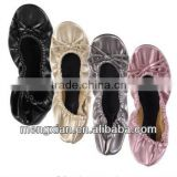 2014 decorated indoor bulk wholesale foldable ballet shoes                                                                         Quality Choice