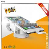 Cool item ! Christmas promotion price wall mount mobile phone display holder with inner cable