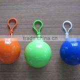 keychain Plastic Disposable Poncho Raincoat Ball for keyring promotion                                                                         Quality Choice