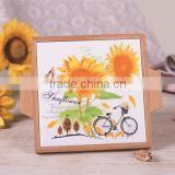 DFC Wholesale Square Ceramic Severing Hot Tray with Bamboo Frame
