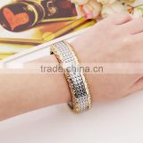 Latest Design CZ Copper Fashion Bangle European and American punk style Fashion Jewelry Bracelet