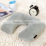 Promotional inflatable bolster car and bath neck pillow