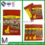 Aluminum Foil Material and sachet Use 3 side seal bags with tear notches for coffee tea snack food