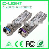 Manufacturer of 40km SFP BIDI Optical Transceiver 1310/1490 1.25Gb/s For 1.25G 1000BX Ethernet