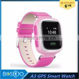 New A3 Kid GPS Smart Watch Wristwatch SOS Call Location Finder Locator Device Tracker for Kid Safe Anti Lost Monitor Baby Gift