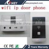 two-way aduio ip Video Door Bell Supports Wifi Remote Viewing and ring tones and volume access