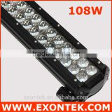 Best selling led headlight 108W flood spot combo beam waterproof 4x4 led light bar 108W prompt shipment