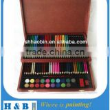 color pencils wooden gift box