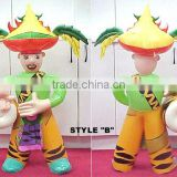cute cartoon product/party holiday inflatable/promotional toys/plastic pvc items/adversing toys