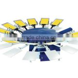 Semi Automatic Multi Color T-shirt/Fabric/Clothes/Garment Rotary Screen Printing Machine