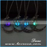 Glowing necklace New style moon start pendant necklace,luminous necklace