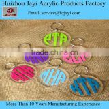 china manufacturer DIY design acrylic custom keychain with logo