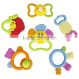 100% BPA Free Teether Toy Best Choice Products (Set of 6) Baby Teether Toy with Unique Fun Shapes