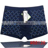 Fashion printed grid men underwear wholesale men boxer briefs boyshort