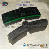 train brake block manufacturer, locomotive brake block made in China, composite brake shoe lowest price,railway brake pad SGS proved
