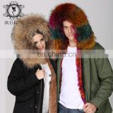 Hot selling 2016 real fur hood coat wholesale OEM warm raccoon fur coat
