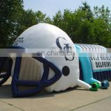 Hot-sale inflatable helmet football tunnel for sale