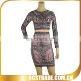 2014 fashion two piece bandage dress sexy gypsy style dresses