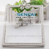 New metal button 2014 wholesale photo frame, beautiful photo frames, pink rhinestone photo frame