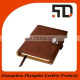 New Design Alibaba China Gold Supplier PU Promotional Gifts Notebook Cover Design
